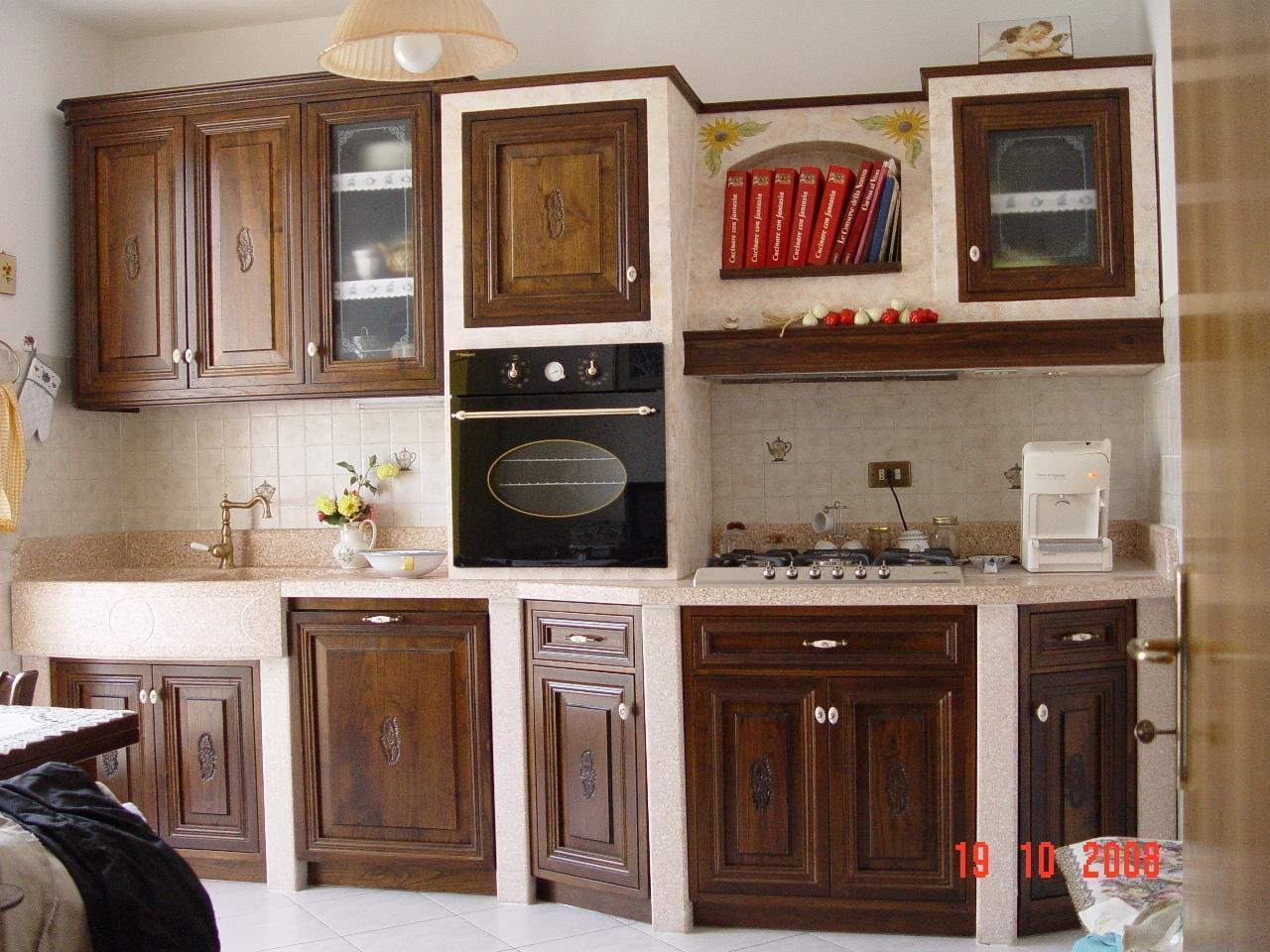 Progetto Cucina Completa Country Azzurra Idee Armadi Pictures to pin ...
